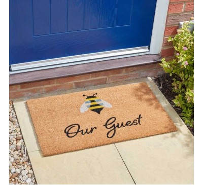 Bee Our Guest Door Mat 45 x 75 cm