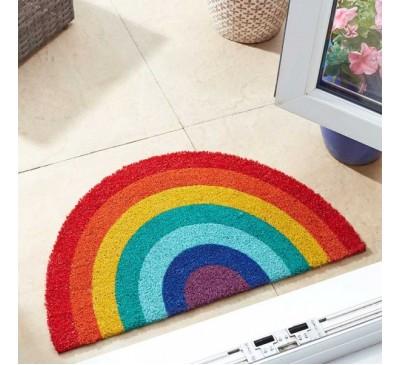 Rainbow Crescent Door Mat 45 x 75 cm
