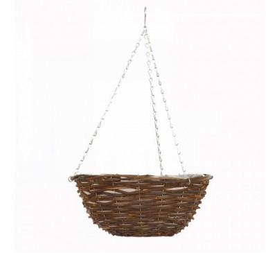 12 inch Rattan Hanging Basket