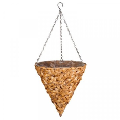 14 inch Déco Faux Rattan Hanging Cone