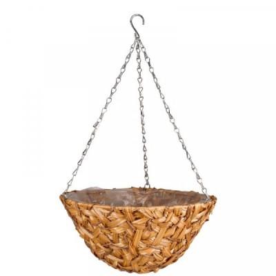 14 inch Déco Faux Rattan Hanging Basket