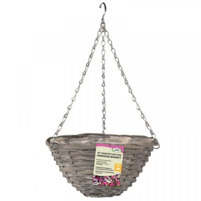 12 inch Sable Willow Hanging Basket