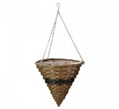 14 inch Firenze Faux Rattan Hanging Basket