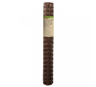 Climbing Plant & Fencing Mesh - Brown 50mm Mesh 0.5 x 5m