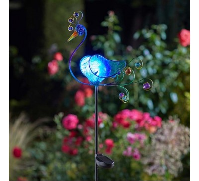 Smart Solar Peacock Stake Light