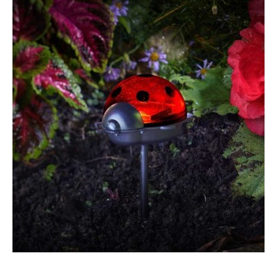 Smart Solar Ladybird Stake Lights 3pk