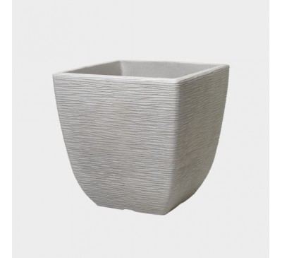 32cm Cotswold Square Planter Limestone Grey