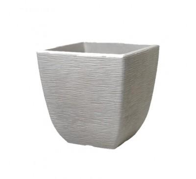 38cm Cotswold Square Planter Limestone Grey