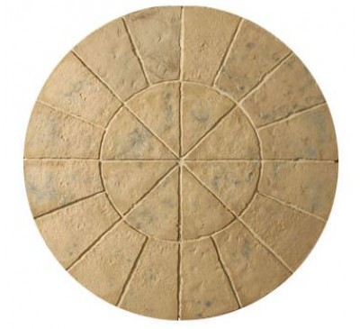 Minster Circle Patio Kit 1.8m wide Autumn Brown