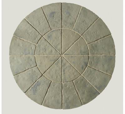 Minster Circle Patio Kit 1.8m wide Rustic Sage