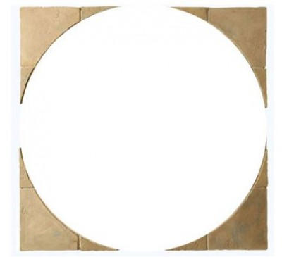 Minster Circle Patio Squaring Off Kit 1.8m wide Autumn Brown