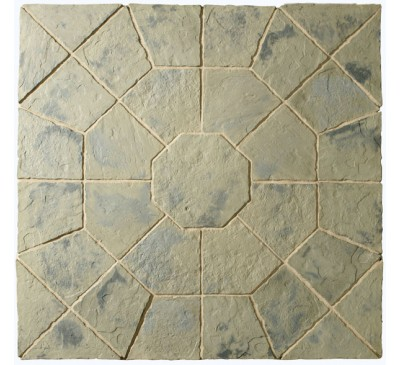 Minster Octagon Patio Kit 2.3m wide Rustic Sage