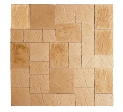 Abbey Paving Kit 2.4m wide York Gold