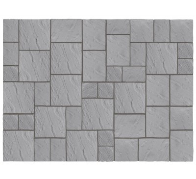 Abbey Paving Kit 3.69m wide Graphite