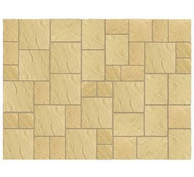 Abbey Paving Kit 3.69m wide York Gold