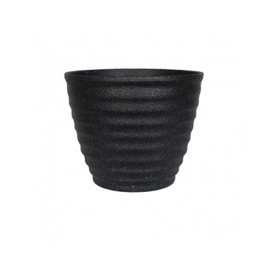 Hudson Black Plant Pot Small