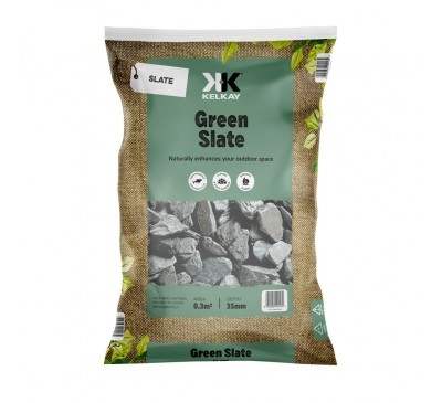 Green Slate 20mm 2 Bags for £10 - 25kg Bag (approx)