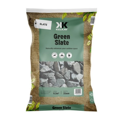 Green Slate 40mm 2 Bags for £10 - 25kg Bag (approx)