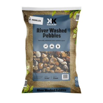 River Washed Pebbles 2 Bags for £14 - 25kg Bag (approx)