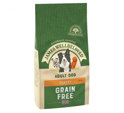 James Wellbeloved Turkey & Vegetables Grain Free Adult Dog 1.5kg