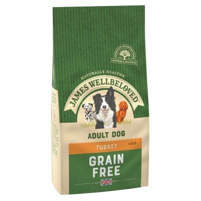 James Wellbeloved Turkey & Vegetables Grain Free Adult Dog 1.5kg