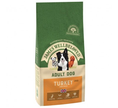 James Wellbeloved Turkey & Rice Adult Dog 2kg