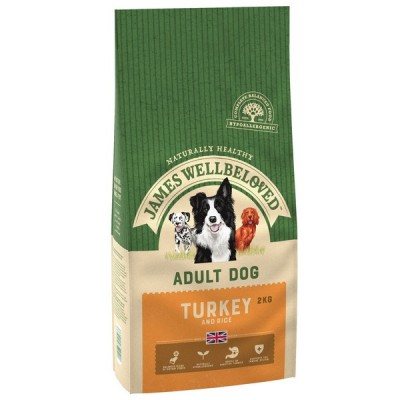 James Wellbeloved Turkey & Rice Adult Dog 2kg