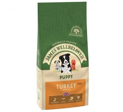 James Wellbeloved Turkey & Rice Puppy 2kg