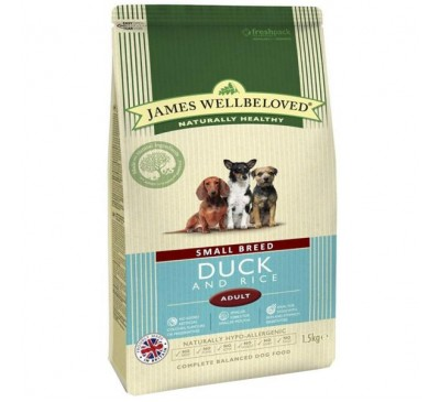 James Wellbeloved Duck & Rice Small Breed 1.5kg