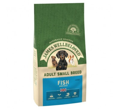 James Wellbeloved Fish & Rice Small Breed 1.5kg