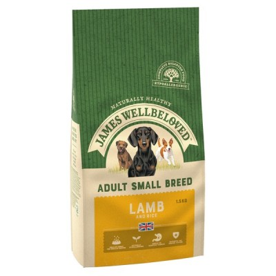 James Wellbeloved Lamb & Rice Small Breed 1.5kg