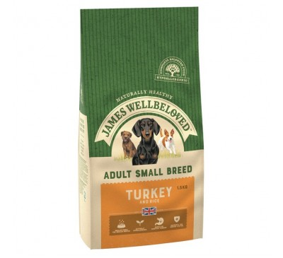 James Wellbeloved Turkey & Rice Small Breed 1.5kg