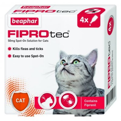 Beaphar FIPROtec® Spot On For Cats (4x Pipettes)