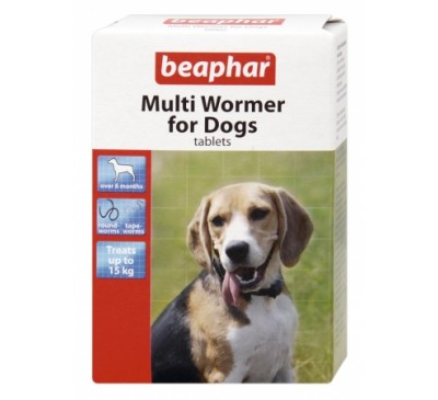 Beaphar Multi Wormer for Dogs 12x Tablets