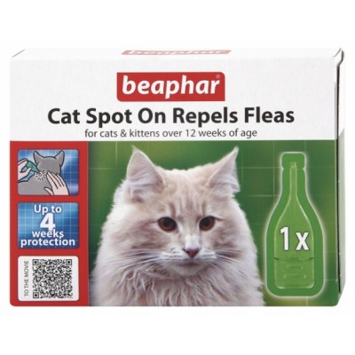 Beaphar Cat Spot On 4 Week Flea Repellent (1x Pipette)