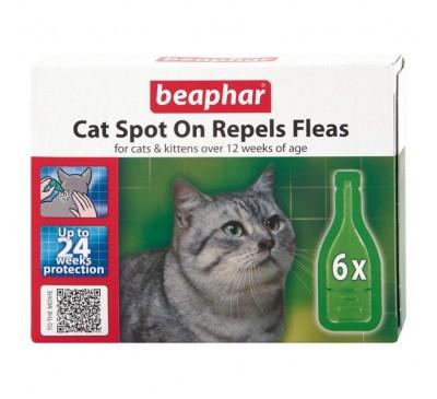 Beaphar Cat Spot On 24 Week Flea Repellent (6x Pipettes)