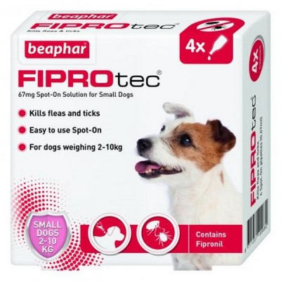 Beaphar FIPROtec® Spot On Small Dog (4x Pipettes)