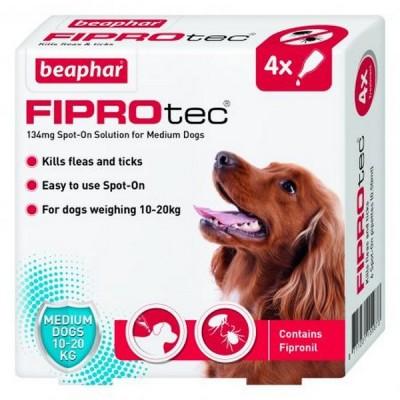 Beaphar FIPROtec® Spot On Medium Dog (4x Pipettes)