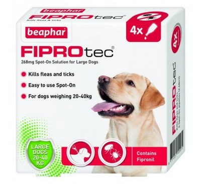 Beaphar FIPROtec® Spot On Large Dog (4x Pipettes)