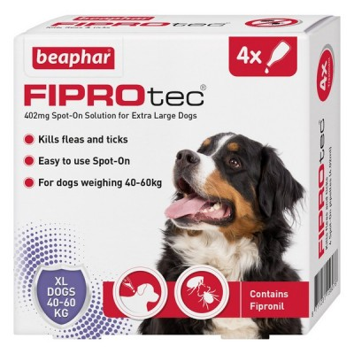 Beaphar FIPROtec® Spot On Extra Large Dog (4x Pipettes)
