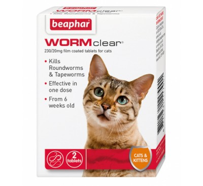 Beaphar WORMClear® for Cats & Kittens 2x Tablets