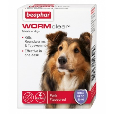 Beaphar WORMClear® for Dogs up to 40kg 4x Tablets
