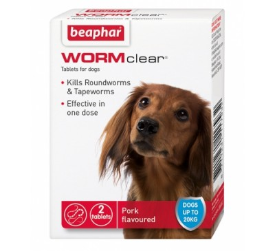 Beaphar WORMClear® for Dogs up to 20kg 2x Tablets