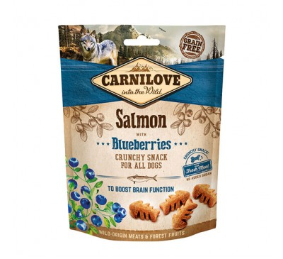 Carnilove Salmon with Blueberries Crunchy Dog Treats 200g