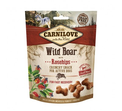 Carnilove Wild Boar with Rosehip Crunchy Dog Treats 200g