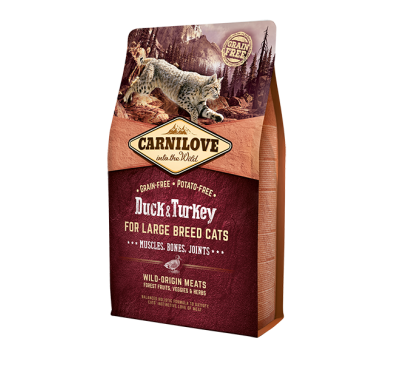 Carnilove Duck & Turkey Large Breed Adult Cat 400g