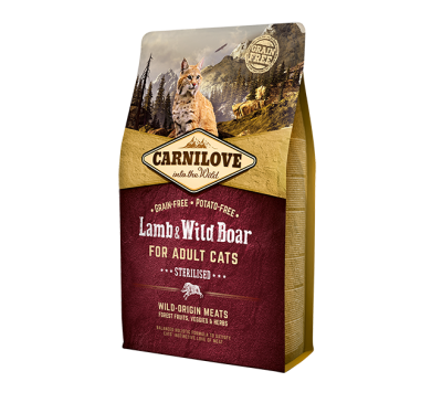 Carnilove Lamb & Wild Boar Adult Cat 400g