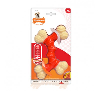 Nylabone Extreme Chew Double Bone Bacon XL
