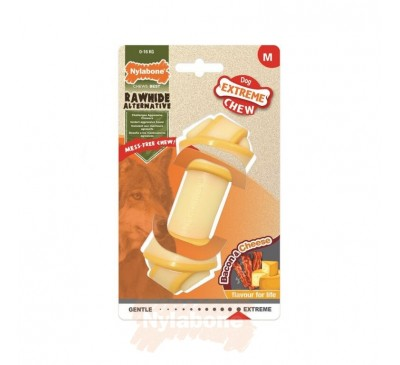 Nylabone Extreme Chew Knot Bone Bacon & Cheese M
