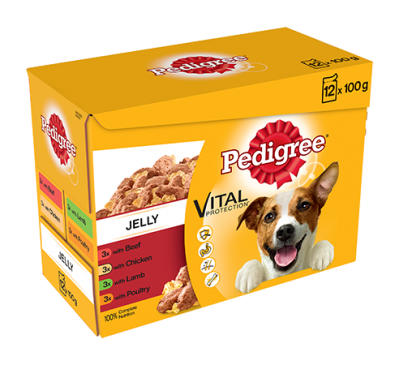 PEDIGREE® Pouches Favourites in Jelly 12x100g